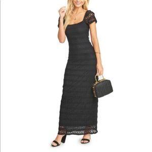 Show Me Your Mumu Stella Lace Black Maxi Dress